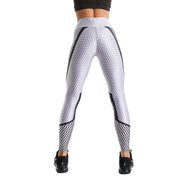 HEXAGONAL LIGHT GREY PRINTED LEGGINGS
