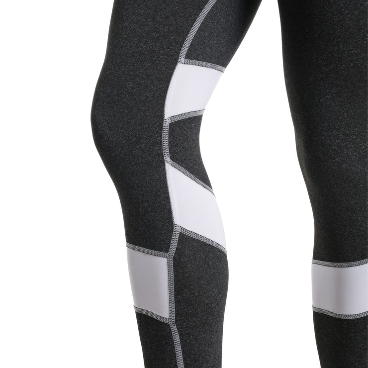 BLACK & WHITE HIGH-RISE SPIRAL LEGGINGS
