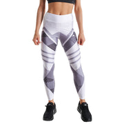 WHITE ANDROMEDA PRINTED LEGGINGS