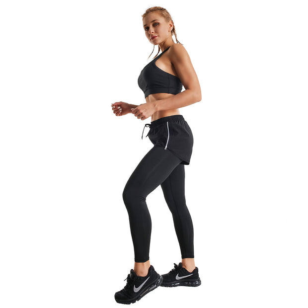 BLACK WARRIOR ZIP SHORTS LEGGINGS COMBO