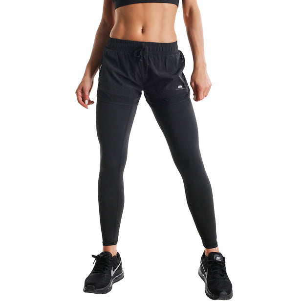 FULL BLACK SHORTS RUNNING LEGGINGS COMBO