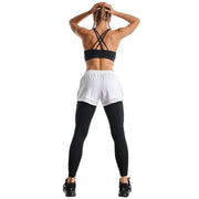 BLACK & WHITE ULTIMATE SHORTS RUNNING LEGGINGS COMBO