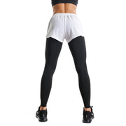 BLACK & WHITE ZIP SHORTS LEGGINGS COMBO