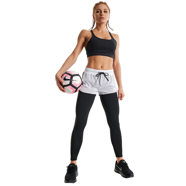 BLACK & WHITE SHORTS FIT COMPRESSION LEGGINGS COMBO