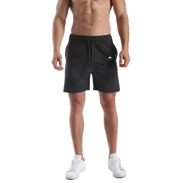 FULL BLACK MEN'S ATHLETIC SHORTS