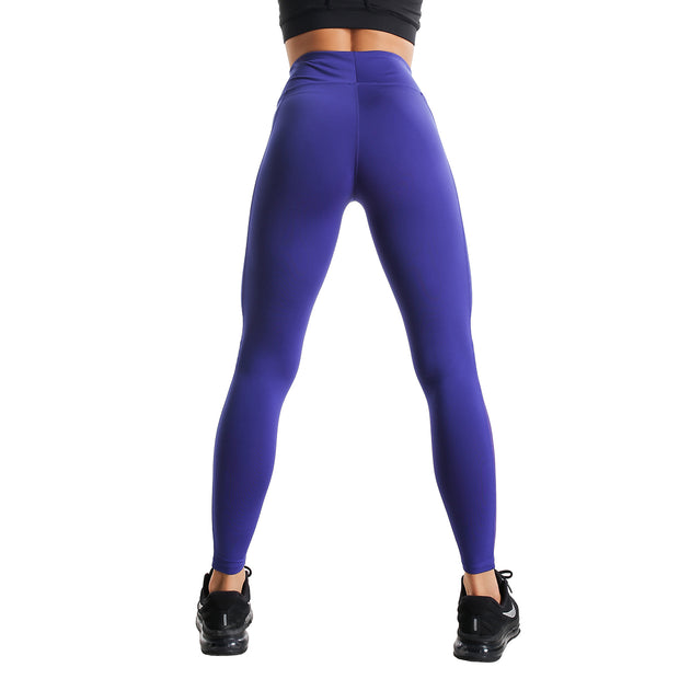 MID-RISE BLUE RUNNING LEGGINGS