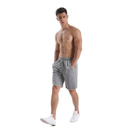 CASUAL GREY MEN'S RUNNING SHORTS
