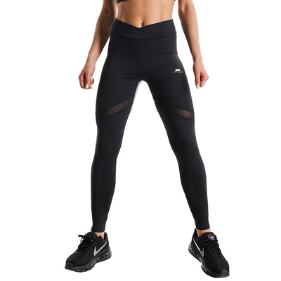 BLACK & GREY FIT COMPRESSION LEGGINGS