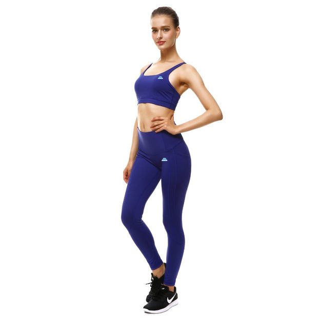 Bold Blue PerformX Sports Set - Lotus Leggings