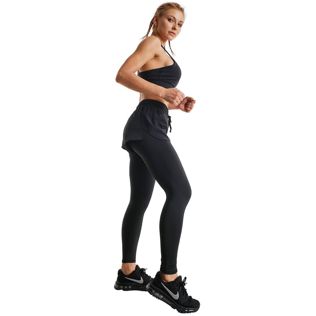 BLACKOUT RUNNING SHORTS LEGGINGS COMBO
