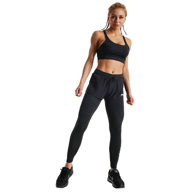 BLACKOUT II RUNNING SHORTS LEGGINGS COMBO