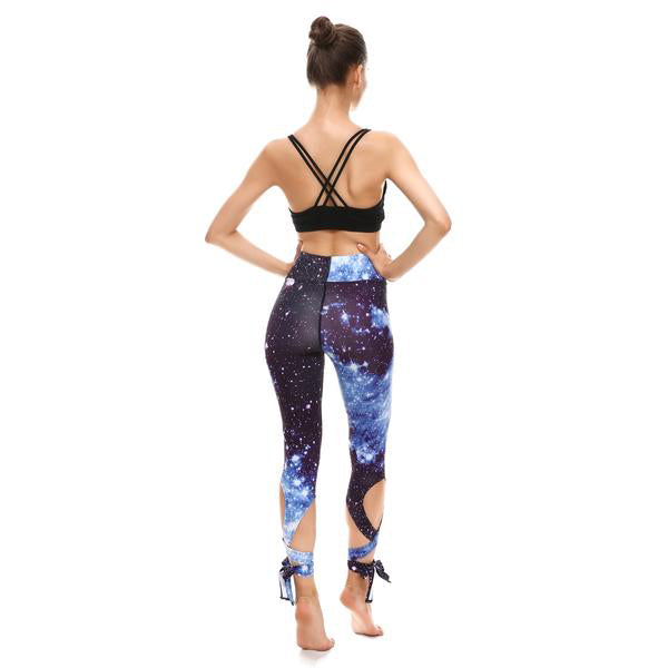 GALAXY TIE-UP LEGGINGS