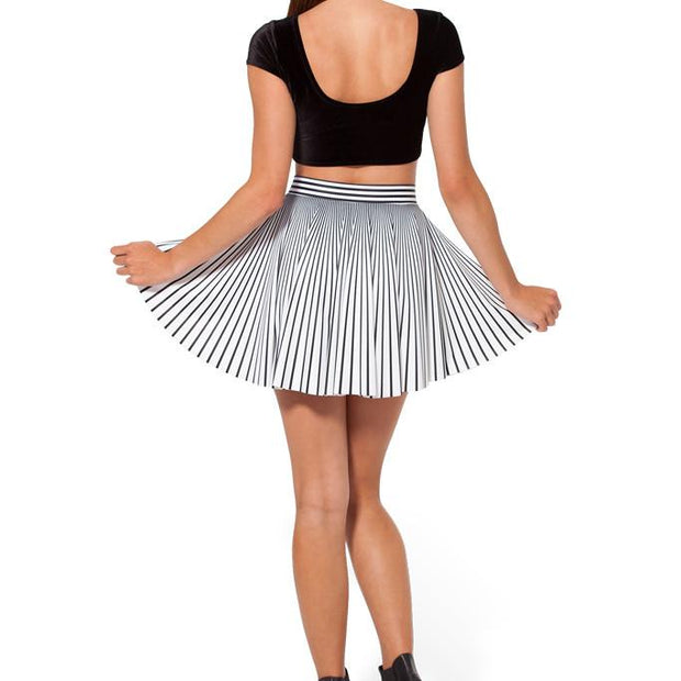 STRIPED CHEERLEADER SKIRT - Lotus Leggings