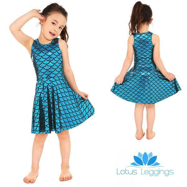 Kid's Mermaid Skater Dress - Lotus Leggings