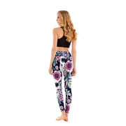 LotusX™ Skull Midnight Garden Leggings - Lotus Leggings