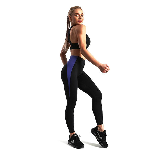 BLUE VS. BLACK RACER LEGGINGS