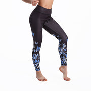 LOTUSXLITE BUTTERFLIES BLUE LEGGINGS