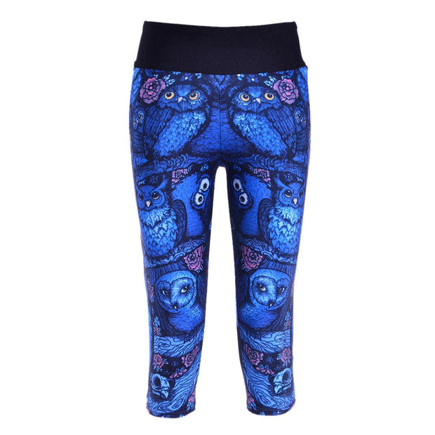 MIDNIGHT OWL ATHLETIC CAPRI - Lotus Leggings
