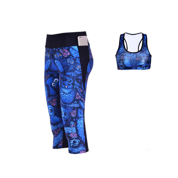 MIDNIGHT OWL ATHLETIC SET