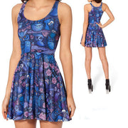 MIDNIGHT OWL REVERSIBLE SKATER DRESS