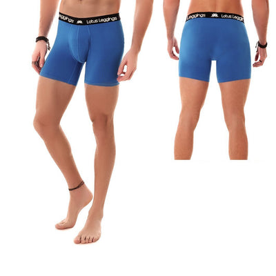 LOTUS LEGGINGS LOTUS BLUE MEN'S BOXER BRIEFS