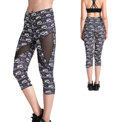 Midnight Eyes MaxFit Capri - Lotus Leggings