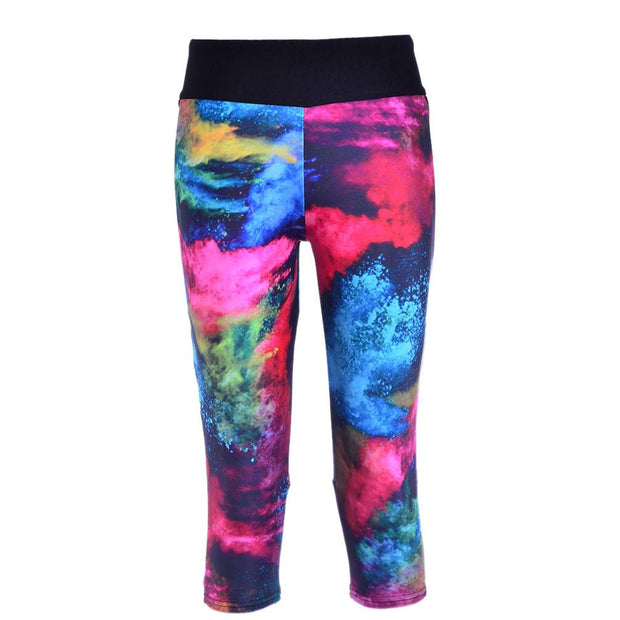 PAINTED CANVAS ATHLETIC  CAPRI - Lotus Leggings