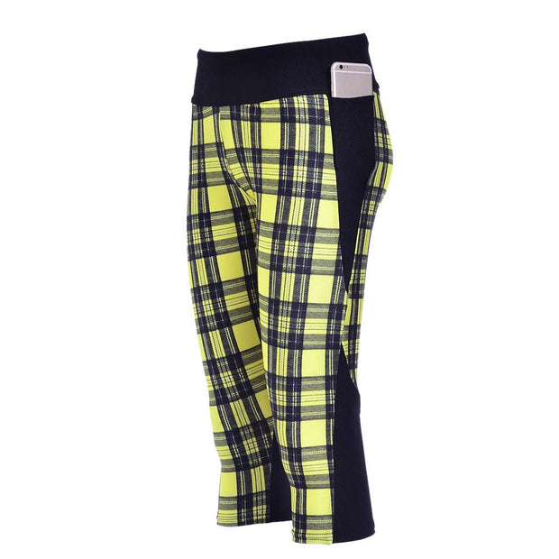 YELLOW PLAID ATHLETIC SET - Lotus Leggings
