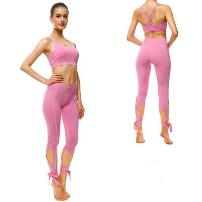 PRETTY IN PINK TIE-UP SPORTS SET