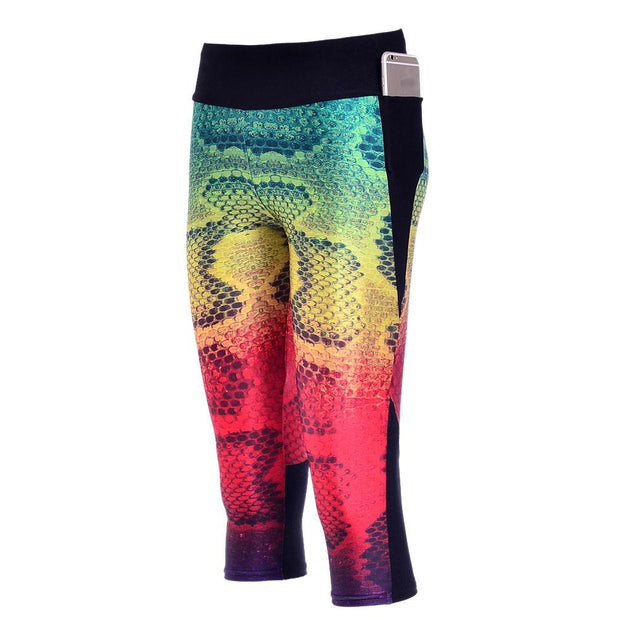 RAINBOW SNAKESKIN ATHLETIC SET - Lotus Leggings