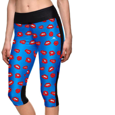 READ MY LIPS ATHLETIC CAPRI
