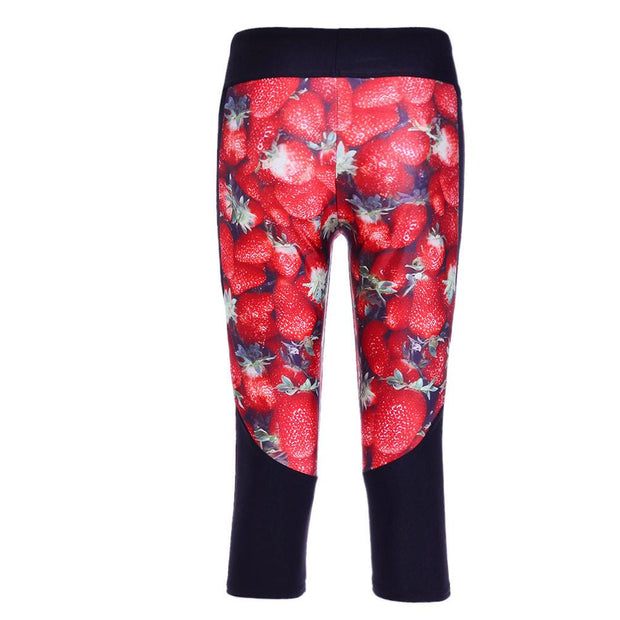 STRAWBERRY ATHLETIC CAPRI - Lotus Leggings