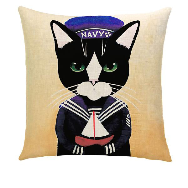 THE WORKING CATS PILLOW COVER