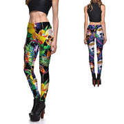 TROPICAL BLOSSOM SKULLS LEGGINGS