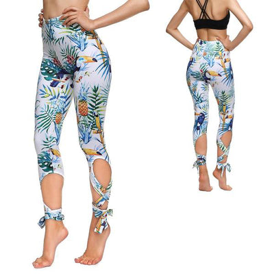 TROPICAL TOUCAN TIE-UP LEGGINGS