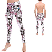 Floral Skull Leggings - Lotus Leggings
