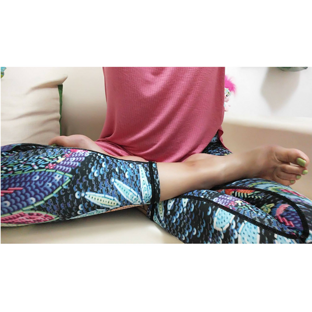 LotusX™ Neon Floral Leggings - Lotus Leggings