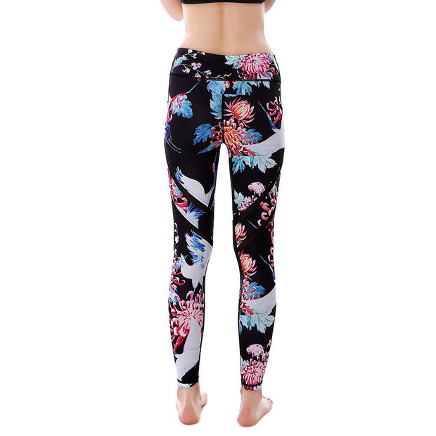 Floral Bird MaxPerformance Leggings - Lotus Leggings
