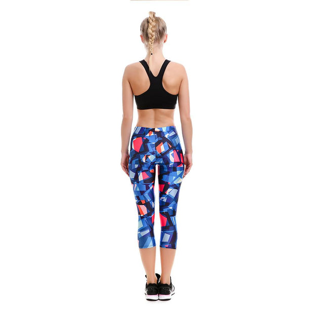 Abstract Attraction Athletic Capri - Lotus Leggings