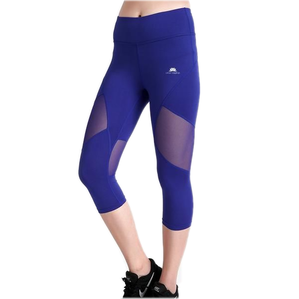 BOLD BLUE CAPRI MESH LEGGINGS