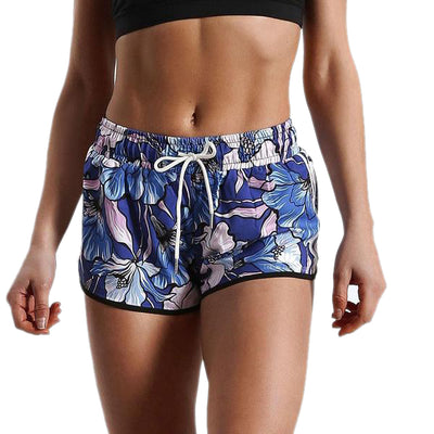 NAUTICAL HIBISCUS RUNNING SHORTS