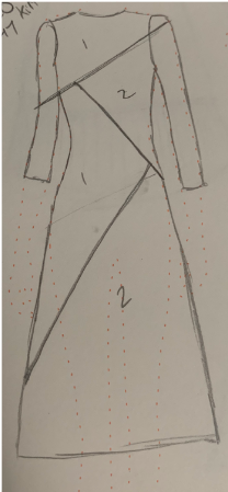 The Point Dress Sketch
