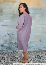 Load image into Gallery viewer, The Origami Dress (Eggplant)
