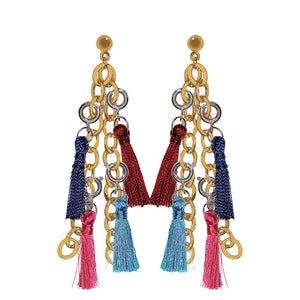 Vibrant Charms on Gold Chain Dangle Base