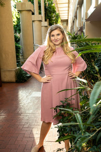 The Flutter Dress (Blush)