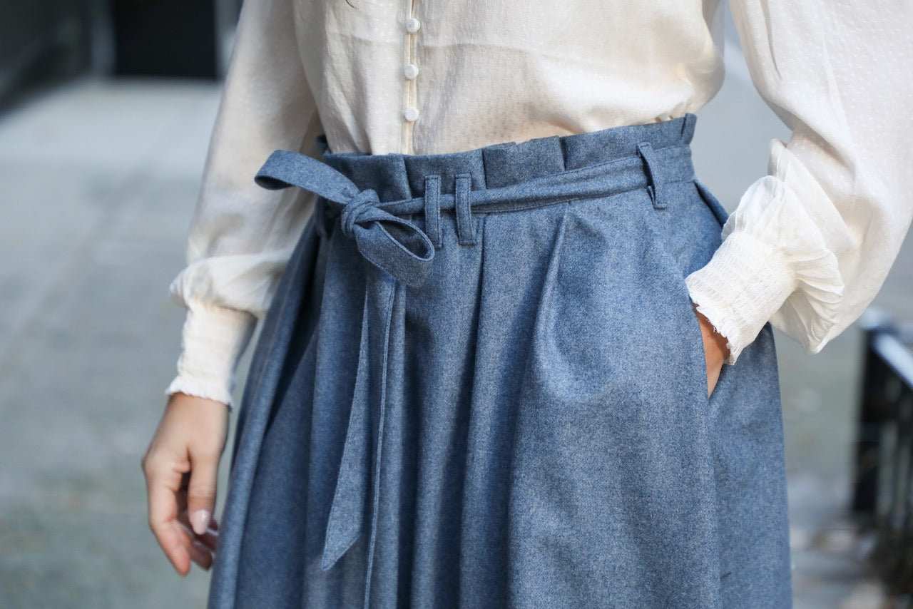 The Most Perfect Pleated Skirt (Slate)