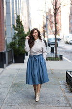 Load image into Gallery viewer, The Most Perfect Pleated Skirt (Slate)