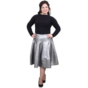 The Elle Skirt (Metallic Silver)