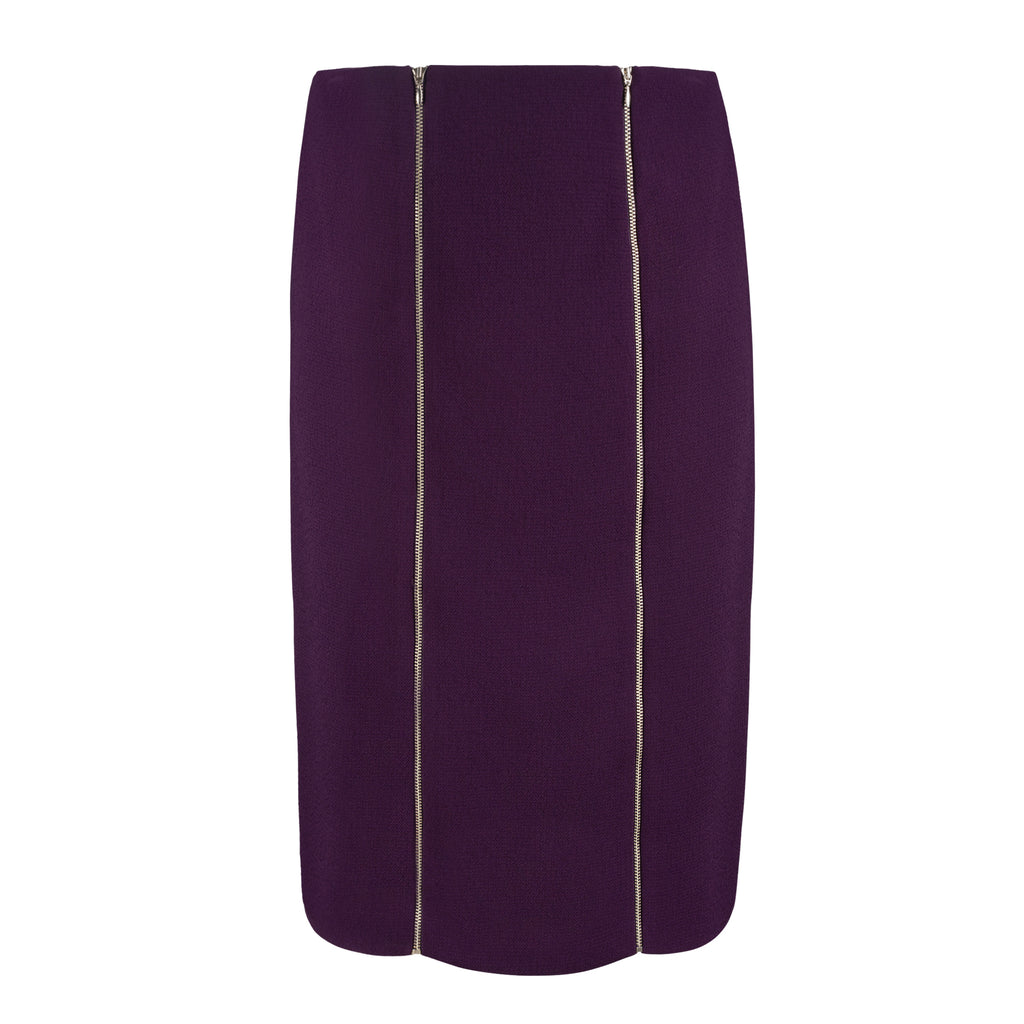 Pencil Skirt with Decorative Zippers