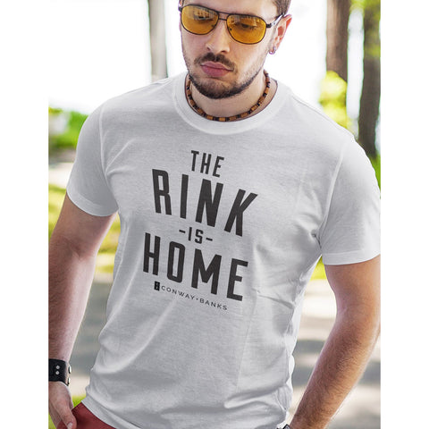 The Rink Is Home Tee Mens-Mens-Conway + Banks Hockey Co.-Conway and Banks Hockey Co.